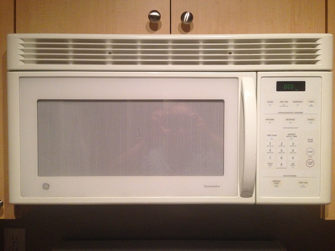 Over The Stove Exhaust Fans : Ge microwave cu ft over range with exhaust fan