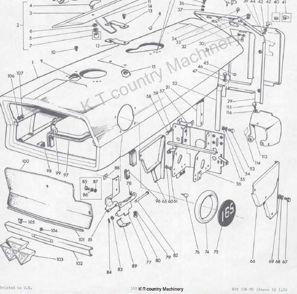 massey ferguson 135 steering diagram